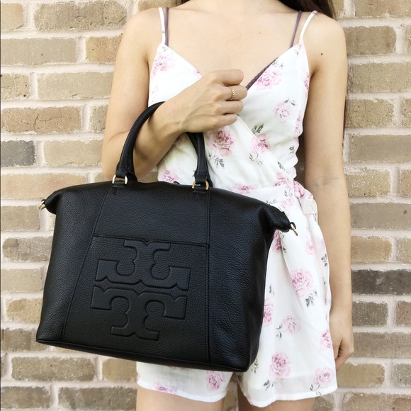 4ec029abe57a Tory Burch Bombe T Slouchy Satchel Bag Boutique